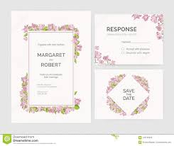 Set Of Gorgeous Wedding Invitation Save The Date And Response Card