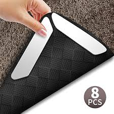 rug grippers best 8 pcs anti curling rug gripper keep your rug in place and makes corners flat premium carpet gripper with renewable gripper tape