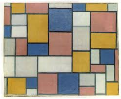 mondrian composition with color planes and gray lines 1918 piet mondrian wikipedia
