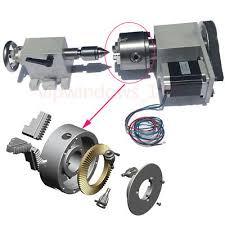 <b>CNC</b> Rotary <b>4th</b> Axis <b>MT2 Tailstock</b> 3-jaw 80mm Lathe Chuck ...