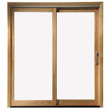 pella 71 25 in x 79 5 in clear glass left hand white wood sliding
