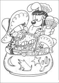 Garfield Houdt Van Tortillas Kleurplaat Gratis Kleurplaten Printen