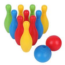 Trẻ Em Đồ Chơi Bowling Bộ Ngoài Trời Trong Nhà Trò Chơi Bowling Đại Cho Bé  Trai Bé Gái Quà Tặng Gia Đình Giải Trí 10 Chân Và 2 Bowling bóng|Bowling