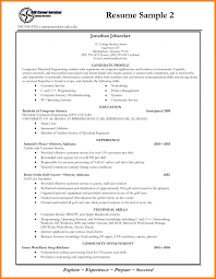 Freshman College Student Resume Bachelor Of Computer Science
