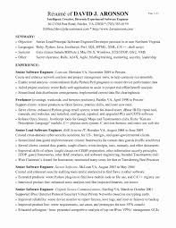 Sample Resume For One Year Experienced Software Engineer Fresh