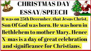 Christmas Day Essay Christmas Essays Hindi And English Youtube