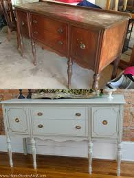 painted vintage furnitureHow to Paint a Vintage Buffet  Home Stories A to Z