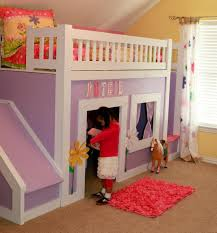 Bunk Bed with Stairs and Slide Interior Design Ideas for Bedroom
