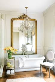 house decorating ideas spring. Beautiful Spring House Bathroom Decorating Idea Decoration Ideas For Home Big Gold Frame Wall Mirror Classic Chair Freestanding Bathtube D