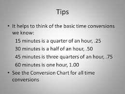 Quarter Hour Time Conversion Chart Timekeeping 101 Minutes To Decimals Hours In Not 4 Hours And