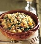 butternut squash  rosemary  and blue cheese risotto