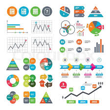 Pie Chart Pdf Download Business Data Pie Charts Graphs File Stock Vector