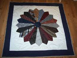 Make a Memory Quilt from Ties - Quilting Digest & Dresden Memory Quilt Made of Ties Adamdwight.com