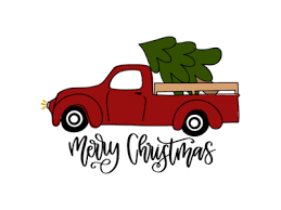 Old vintage truck with christmas trees svg cutting file. Vintage Red Truck Free Svgs Project Ideas