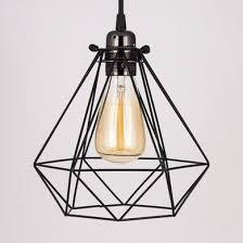 cord lighting. Classic Retro Pearl Black Pendant Light Cord PLUS Diamond Bulb Cage Combo Kit Lighting R