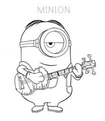 Kids love cartoon drawing free coloring pages of minions banana fruits, entertaining dressing up costume minion activities and online minion games. Despicable Me Minions Coloring Pages Playing Learning