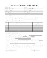 Janitorial Bid Template Free Cleaning Forms Proposal – Pitikih