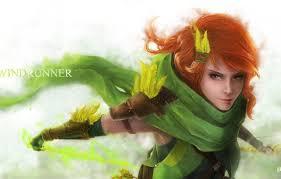 wallpaper archer windrunner dota 2 windranger images for