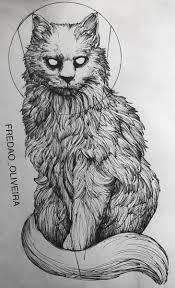 эскиз тату с котом в графике котики татуировка кошка эскиз тату