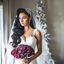 Breathtaking Winter Princess Bride Marisa Crystal Encrusted Bridal