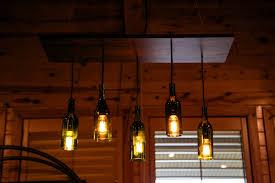 wine bottle edison chandelier crush