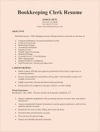 Bookkeeping Clerk Resume Sample For Microsoft Word Doc