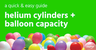 Helium Cylinders Balloon Capacity A Quick Easy Guide