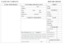 Company Order Form Template Custom Work Order Tracking Template Excel Work Order Template Program