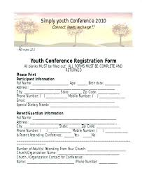 Printable Registration Form Templates Doc Free Conference Event ...
