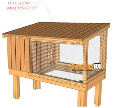 rabbit hutch plans step 11