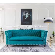 Raymer Möbel Zugeknöpft Luxus 3 Sitzer Sofa Französisch Blau Samt Esszimmer Sofa Buy Samt Esszimmer Sofablau Samt Sofawohnmöbel Sofa Samt Product