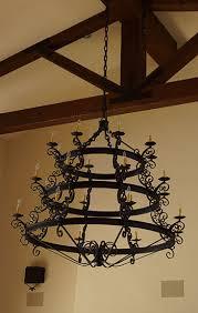 spanish style chandelier forged iron chandelier wrought iron chandelier