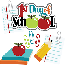 Image result for 1st day of school clipart