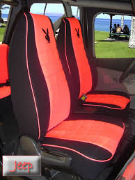 jeep wrangler full piping seat covers 91 06 high back