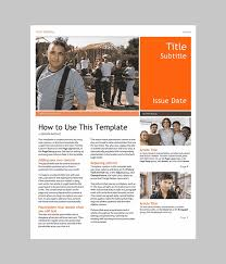 Free Newsletter Templates For Microsoft Word Word Newsletter