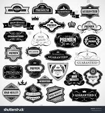 Vintage Design Vintage Design Elements Labels In Stock Photo 138763145