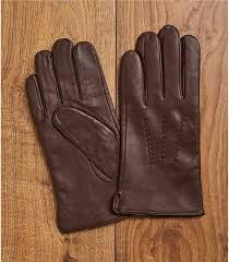 mens leather glove in brown
