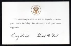 Congrats You Ve Turned 100 Congratulations From The President