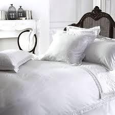 luxury white vintage lace cotton bedding bed linen double duvet cover
