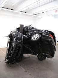 car crash sculptures by dirk skrebers