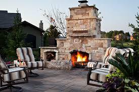 stone outdoor fireplace belgard mega lafitt pavers
