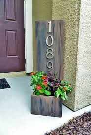 diy rustic wood house address plaques house number signs