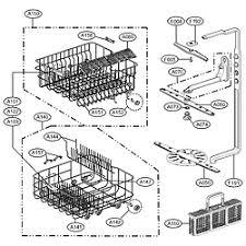 lg dishwasher parts. rack parts lg dishwasher d
