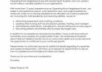 Operating Room Nurse Cover Letter Resume Cover Letter For Nursing Resume Templates Design