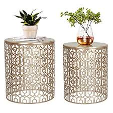 joveco end tables set of 2 coffee table
