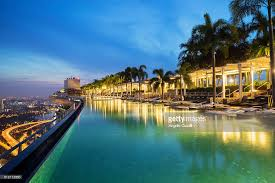 Infinity Pool At Marina Bay Sands Hotel Singapore Stock Photo