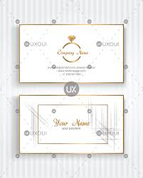 Simple Wedding Business Card Template Vector With Golden Color For Wedding Planner Uxoui