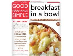 good food made simple uncured bacon and turkey sausage breakfast bowl 7 ounce 8 per case