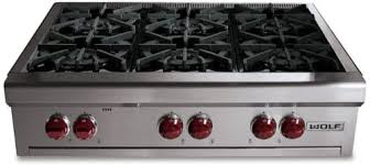 wolf 6 burner gas range. Exellent Burner Wolf RT366  Classic Stainless Steel On 6 Burner Gas Range 3
