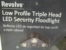 Eaton All Pro Revolve Led Light Outdoor Led Wall Mounted Security Triple Head Flood Light